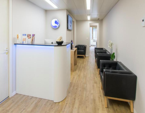 Locaux accueil de la clinique de la Croix d'Or à Genève